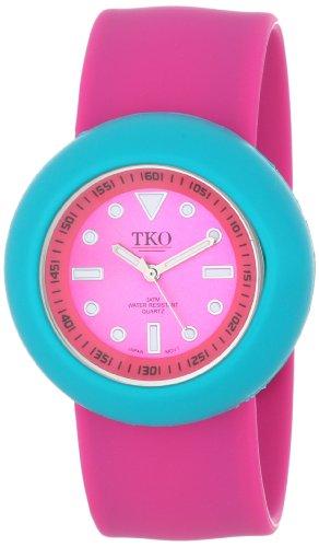 TKO ORLOGI Women's TK590-FTF Watch with Fuchsia Rubber Band