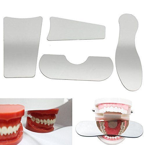 4pcs/Set Dental Stainless Steel Photography Mirrors Double Side Reflector Orthodontic Intra-oral Mirror Clinic Lab Equipment