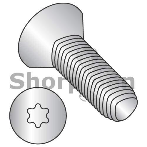 SHORPIOEN Din7500ME Metric 6 Lobe Flat Thread Roll Screw Full THD 18 8 Stain Steel PassWax M4-0.7 x 25 BC-M425RTF188 (Box of 1500)