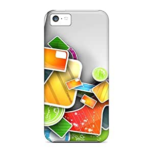 Mycase88 Fashion Protective 3d Abstract Colorful Art Work Cases Covers For Iphone 5c