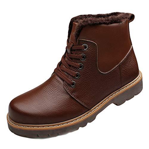 Invernali Scarpe Trekking Scarpe Quotidiani Brown Testa Comode A Uomo Calde in Scarpe da Pelle da Antiscivolo E di Scarpe Stivali Stivali Lavoro Larga Aiuto da Alta Rfw050