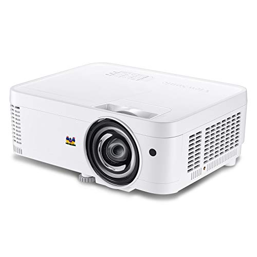 ViewSonic PS501W 3400 Lumens WXGA HDMI Short Throw Projector for Home and Office