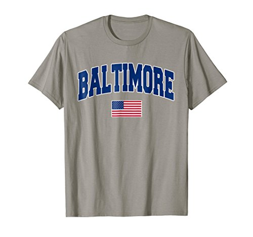 Mens Baltimore Maryland City Pride USA Flag T-Shirt Medium (Baltimore Flag T-shirt)