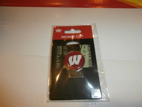 Wisconsin Badger Logo Watch - aminco NCAA WisconsinBadgers Domed Money Clip