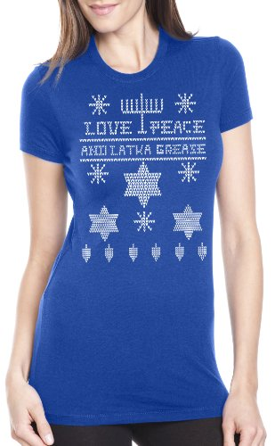 Women's Ugly Hanukkah T Shirtday tee for women XL