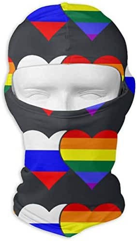 Neck Scarf Sunscreen Hats Ski Mask Russian Flag and LGBT Flag Sun UV Protection Dust Protection Wind-Resistant Face Mask for Running Cycling Fishing