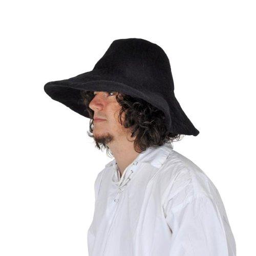 Cappello medievale , Accessorio in feltro , Unisex , Per eventi LARP o GdR  , Nero Amazon.it Giochi e giocattoli
