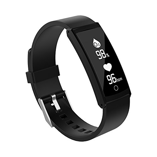 Waterproof Bluetooth Sport Watch Fitness Tracker Heart Rate Monitor Sport Bracelet Pedometer with Heart Rate/Sleep Monitor Smart Watch with Distance/Calorie/Step Counter/Remote Camera (Black)