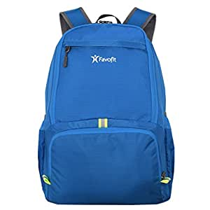 Favofit 35L Packable Lightweight Daypack - Backpack for Camping Hiking Cycling Travel and Daily Usage (Blue)