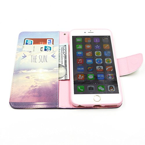 """iPhone 6Plus(5.5"""") Case, Yaobai flip en cuir PU Wallet Card *** Magnetic PU cuir Wallet *** stand Case titulaire de la carte Shell cute adorable [animal] flip PU Housse en cuir Housse Wallet Card avec"""