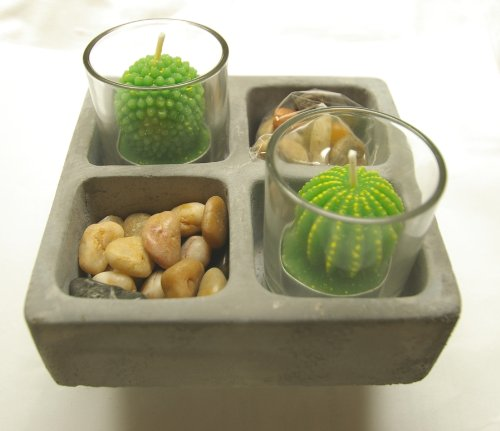 Teelichter Kaktus Deko-Set Kakteen Kerzenset