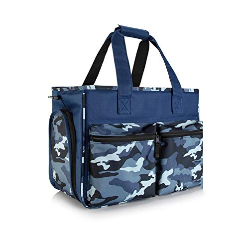 ZH1 Pet Bag Pet Carrier, Soft-Sided Dogs & Cats Carrier Foldable Lightweight Airline Approved Pet Travel Carrier,40cm 21cm 30cm (Color : Blue Camouflage)