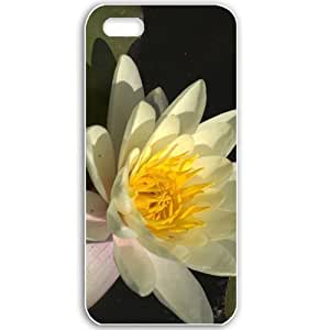 Specialdiy Apple iPhone 6 4.7 case covers Customized Gifts For Flowers Flowers white water liliess Black K5BFyGdCn9N