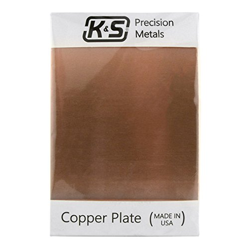 K&S Precision Metals 6601 Copper Etching Plate, 0.050