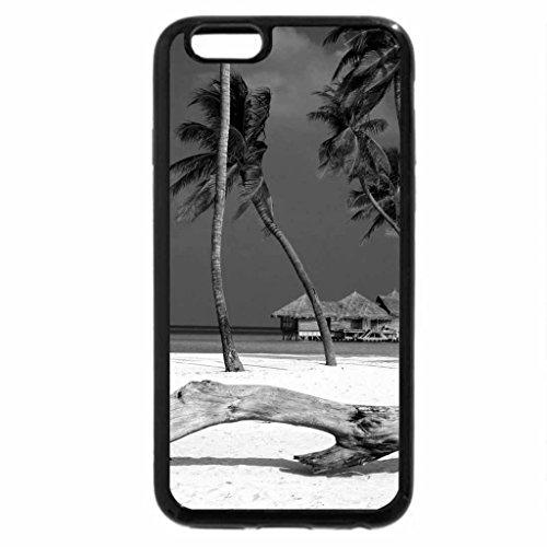 iPhone 6S Plus Case, iPhone 6 Plus Case (Black & White) - White Sand Beach