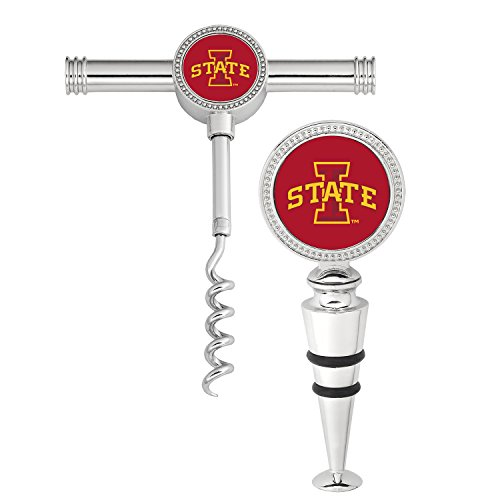 Wine Things Iowa State University Wine Stopper and Corkscrew (Set of 2), Multicolor Review