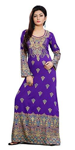 Women's Trendy Designer Colorful Kaftan Maxi Dress DKF1053 2XL (46)