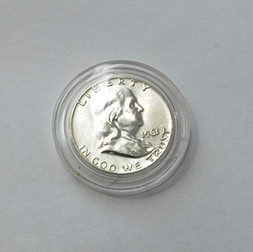 1961 20th Century United States of America Benjamin Franklin Half Dollar 90% Silver Coin Choice Very Fine Details