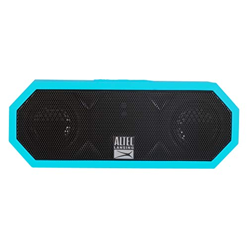 (Altec Lansing IMW457-AB Jacket H2O 2 Bluetooth Speaker, IP67 Waterproof, Shockproof And Snowproof Rated And It Floats Rating, 8 Hours Of Battery, Ultra Portable,  Compact Design, Aqua Blue)