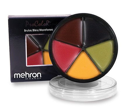 [Mehron- ProColorRing- Bruise (5 Shade Color Wheel)] (Zombie Halloween Costume Makeup)
