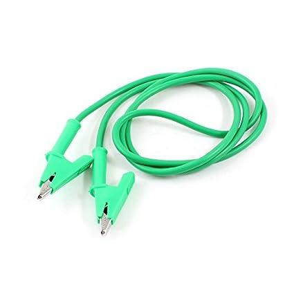 eDealMax 1M Long Green multímetro de la fuente de alimentación Alligator Clip Cable de conductores de