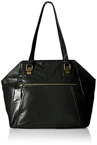 Elliott Lucca Faro Shoulder Tote, Black - Elliott Lucca Leather Shoulder Bag