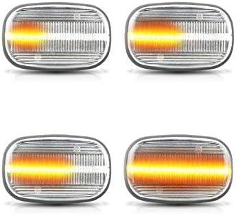 E11 Moligh doll Lampe de Clignotant Dynamique /à LED Indicateurs LED Lampe de Marquage Lat/éRal Dynamique pour Corolla Carina E T19 Corolla E10 E12 RAV 4 GS Fum/é