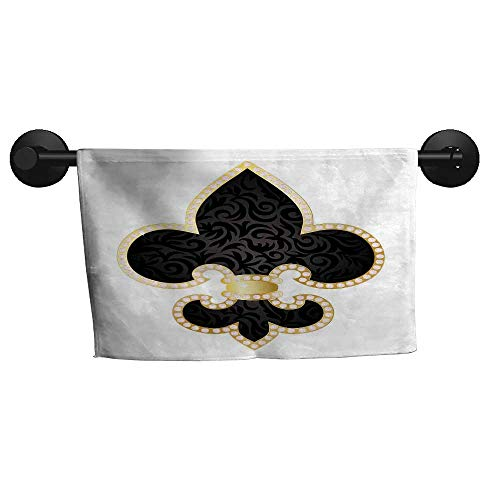 alisoso Fleur De Lis,Kids Swimming Towels Royal Legend Lily Throne France Empire Family Insignia of Knights Image Bathroom Hand Towels W 10
