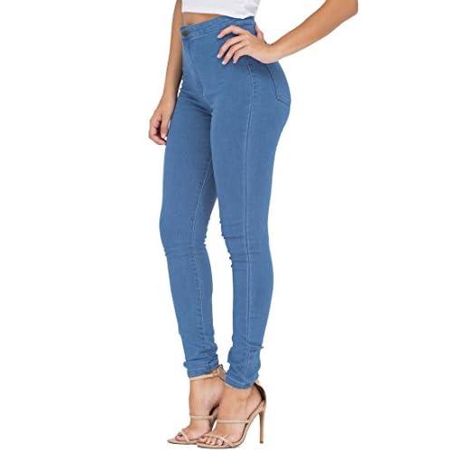 0a8ec4f697918c ESDAMIER Women's High Waist Butt-Lifting Skinny Jeans Elastic Pencil  Jeggings Pants