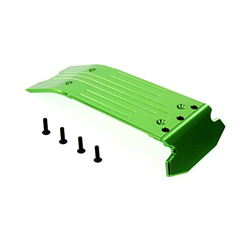 Rear Skid Plate Maxx (Traxxas X-Maxx Alloy Rear Skid plate, Green by Atomik RC - TRX 7744)
