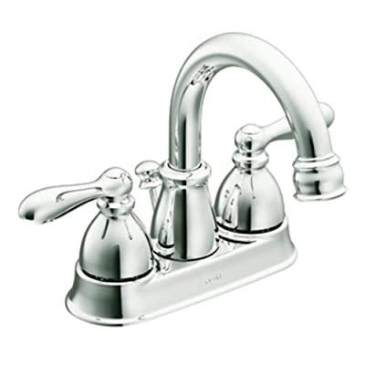 Moen CA84667 Double Handle Centerset Bathroom Faucet from the Caldwell Collection, Chrome