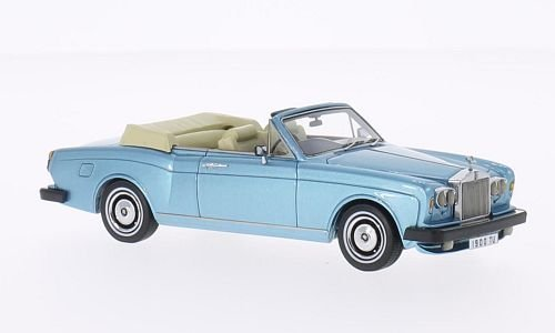 Rolls Royce Corniche DHC, met. light blue, RHD , 1977, Model Car, Ready-made, Neo 1:43 by Rolls Royce