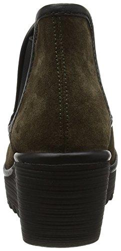 Boots Brown Sludge Fly London Yat Damen Schwarz txwxIqH