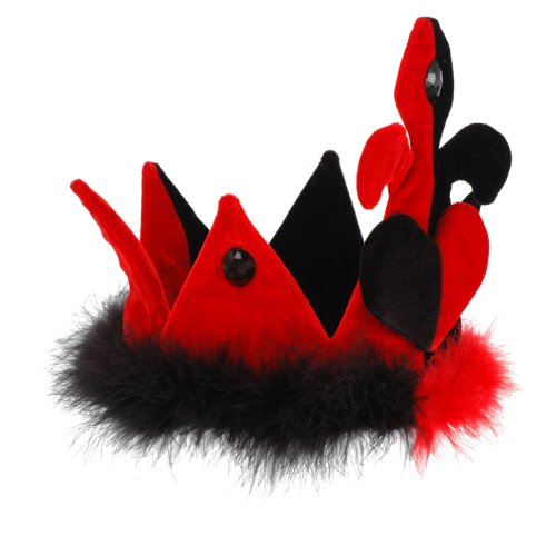 Alice in Wonderland Queen of Hearts Plush Crown by -