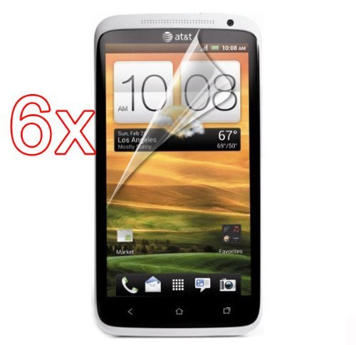 HK 6X Clear Screen Protector Film Shield Cover Guard for HTC S720e One X 6 Pack