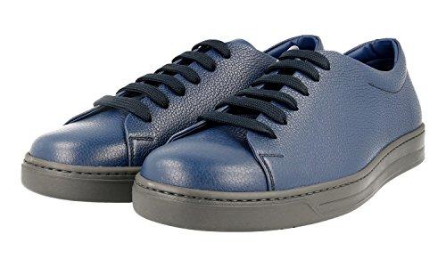 Prada Menns 4e2996 Skinn Sneaker