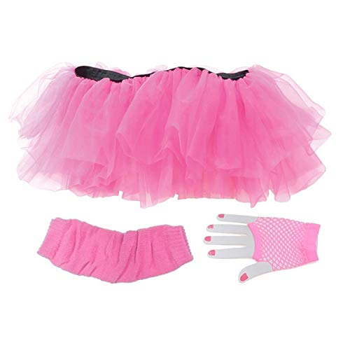 Tutu Set Neon Pink Adult Costume -