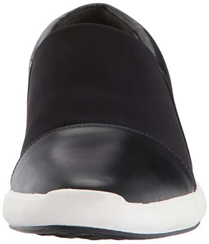 Via Spiga Da Donna In Morgan Sneaker In Pelle Nera / Neoprene Nero