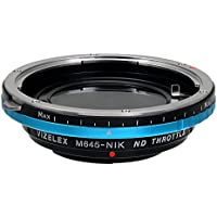 Vizelex ND Throttle Lens Mount Adapter - Mamiya 645 (M645) Mount Lenses to Nikon F Mount SLR Camera Body with Built-In Variable ND Filter (2-Stop to 8-Stops)