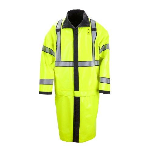 5.11 INC Rain Jacket, Unisex, Rev Blk/Hi-Vis Ylw, XL