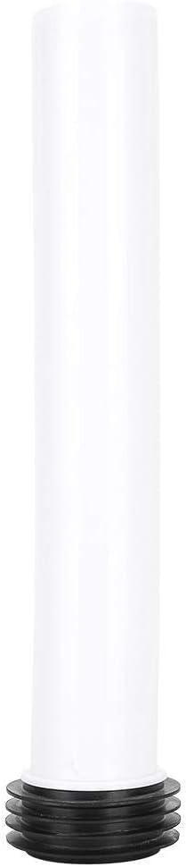 Cikonielf Tubo de Descarga Tubo Inodoro Accesorio Tanque de Agua Recto Inodoro Oculto Blanco