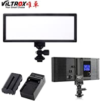 VILTROX L132B Super Slim LED Light ,0.78/2cm LED Dimmable Ultra High Power Panel Digital Camera, CRI95+ LED light , with battery and charger