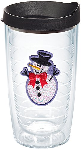 - Tervis 1202345 Confetti Lid, An adorable snowman chills out between the double walls of a tumbler that keeps cold drinks frostier longer. , Black