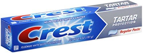 Crest Fluoride Toothpaste, Tartar Protection, Regular 6.40 oz (Pack of 3) (Crest Whitening Fluoride Anticavity Toothpaste)