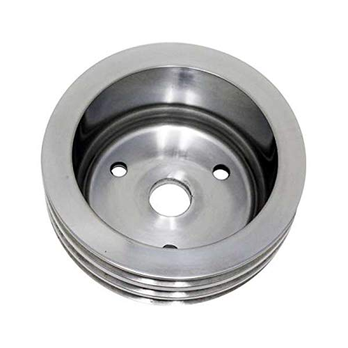 Ecklers Premier Quality Products 25-345258 Chevy Small Block Aluminum Crankshaft Pulley Short Water Pump 3 Groove