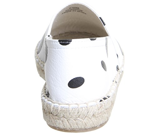 Office Lucky Espadrilles White and Black Spots mgwNasnx8