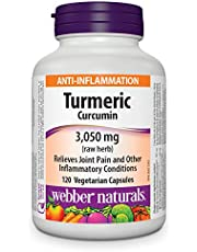 Webber Naturals Turmeric Curcumin, Vegetarian Capsule, 3,050 mg, 120 Count