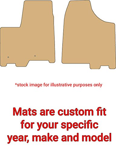 2014 Toyota Sienna Carpeted Car Floor Mats - 2 Piece Fronts Set, Smoke - For 7 Passenger|No Front Console ()