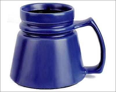 Cobalt Blue Ceramic Coffee Travel