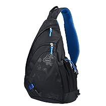 TOLLE! NEU! Mixi Umhängetasche mit Einzel-Schulterriemen , Erstaunlich, vielseitig, langlebig! Reisen, Wandern, Camping-Rucksack(Skywalker Blau, 17)